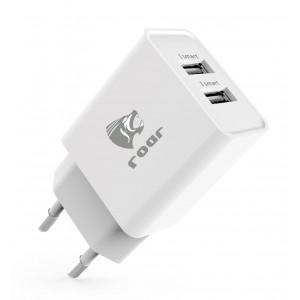 ROAR Φορτιστης PT-498, 2x USB, 2.4A, White PT-498