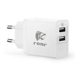 ROAR Φορτιστής PT-499, 2x USB, 3.4A, White PT-499