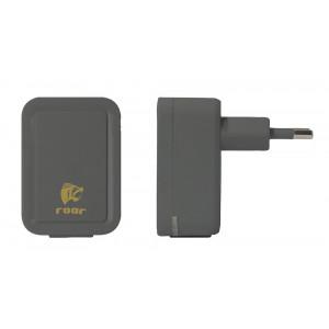 ROAR Φορτιστής PT-500, 2x USB, 2.1A, Black PT-500