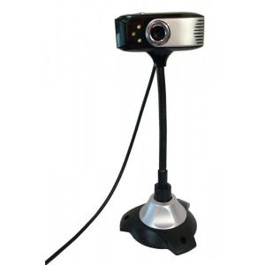 POWERTECH Web Camera 0.3MP, 30fps,USB 2.0, Plug & Play, Black PT-508