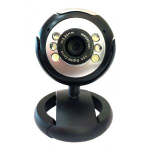 POWERTECH Web Camera 1.3MP,USB 2.0,Plug & Play, Black PT-509