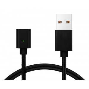 POWERTECH Καλωδιο USB 2.0 Μαγνητικο, χωρις ανταπτορα, 1m, Black PT-566