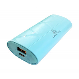 POWERTECH Power Bank 3000mAh, USB, Micro Input, Blue PT-588