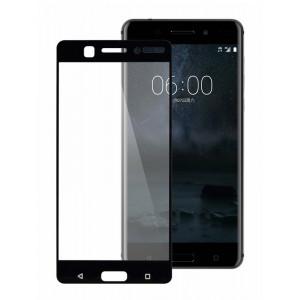 POWERTECH Tempered Glass 3D Full Face για Nokia 6, Black PT-642