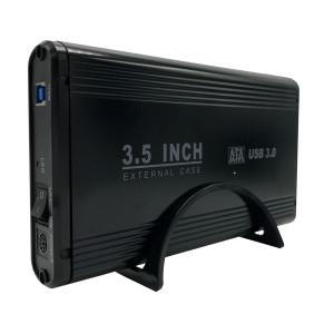 POWERTECH Εξωτερικη θηκη για HDD 3.5 με βαση, USB 3.0, up to 4TB, Μαυρη PT-675