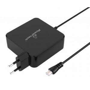 POWERTECH αυτόματος φορτιστής 90watt για laptop, 3m, χωρίς βύσματα PT-698
