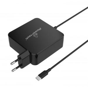 POWERTECH Φορτιστής laptop PT-703, USB Type C PD, Universal, 65W, μαύρο PT-703