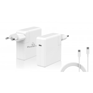 POWERTECH Φορτιστής laptop PT-704 για Apple, USB Type C PD, 61W, λευκό PT-704