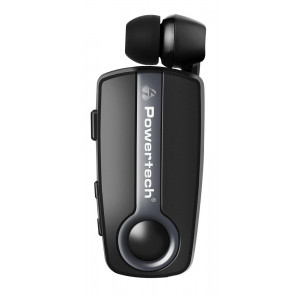 POWERTECH Bluetooth headset Klipp PT-732, multipoint, BT V4.1, γκρι PT-732