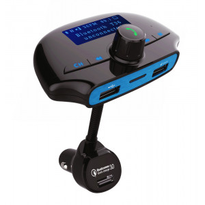 POWERTECH FM Transmitter με LCD οθόνη, USB, SD, Bluetooth, μαύρο PT-737