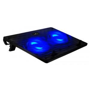 POWERTECH Βάση & ψύξη laptop PT-739 έως 17, 2x 12cm fan, LED, μαύρο PT-739