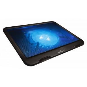POWERTECH Βάση & ψύξη laptop PT-740 έως 15.6, 125mm fan, LED, μαύρο PT-740