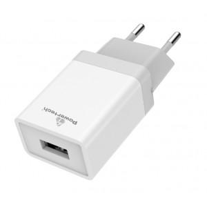 POWERTECH Φορτιστής τοίχου PT-759, 1x USB, 1A, λευκός PT-759