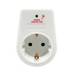 POWERTECH Αντάπτορας ρεύματος schuko PT-768 με προστασία υπέρτασης PT-768
