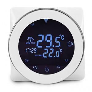 POWERTECH Έξυπνος θερμοστάτης καλοριφέρ PT-783 WiFi, ξηράς επαφής, touch PT-783