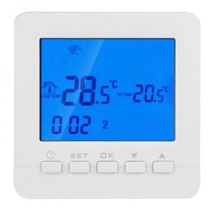 POWERTECH Έξυπνος θερμοστάτης καλοριφέρ PT-784, WiFi, touch screen PT-784