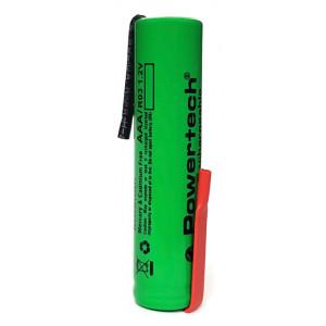 POWERTECH επαναφορτιζόμενη μπαταρία PT-788 800mAh, AAΑ (HR03), 1τμχ PT-788