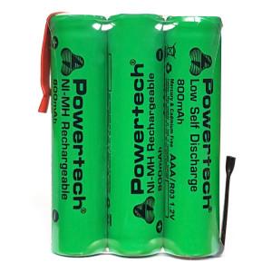 POWERTECH επαναφορτιζόμενη μπαταρία PT-790 800mAh, AAΑ (HR03), 3τμχ PT-790