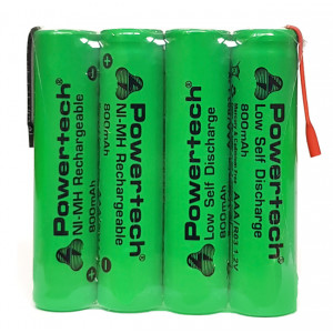 POWERTECH επαναφορτιζόμενη μπαταρία PT-791 800mAh, AAΑ (HR03), 4τμχ PT-791