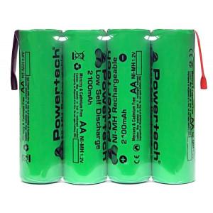POWERTECH επαναφορτιζόμενη μπαταρία PT-794 2100mAh, AΑ (HR6), 4τμχ PT-794