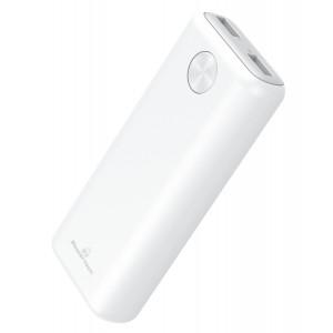 POWERTECH Power Bank PT-802 10000mAh, 2x USB Output, 2.1A, λευκό PT-802