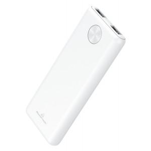 POWERTECH Power Bank PT-803 5000mAh, 2x USB Output, 2.1A, λευκό PT-803