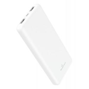 POWERTECH Power Bank PT-804 10000mAh, 2x USB Output, 2.1A, λευκό PT-804