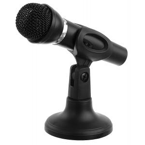 POWERTECH μικρόφωνο PT-859, με βάση, δυναμικό, 3.5mm, μαύρο PT-859