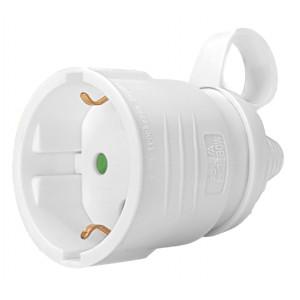 POWERTECH rewirable αντάπτορας ρεύματος PT-887, 1x schuko, 16A, λευκός PT-887