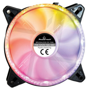 POWERTECH LED ανεμιστήρας PT-909, 120mm, Dual ring, 6pin, RGB PT-909