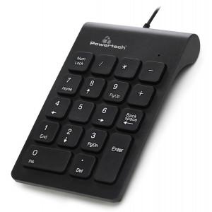 POWERTECH ενσύρματο αριθμητικό πληκτρολόγιο PT-938, USB, μαύρο PT-938