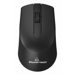 POWERTECH ασύρματο ποντίκι PT-951, οπτικό, 1600DPI, μαύρο PT-951