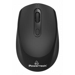 POWERTECH ασύρματο ποντίκι PT-953, οπτικό, 1600DPI, μαύρο PT-953