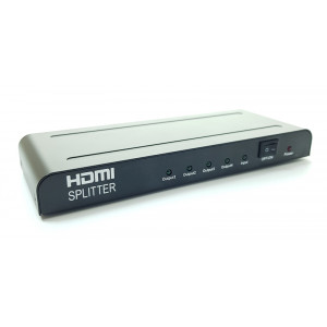 POWERTECH Premiun Quality HDMI 1.4 Splitter, 4x output, EU Power adapter PTH-001