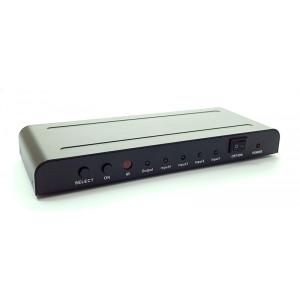 POWERTECH Premium Quality HDMI 1.4 Switch 4x input με PIP, 4K x 2K PTH-003
