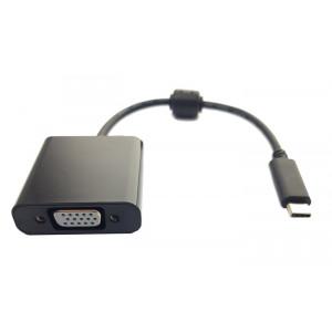 POWERTECH Premium Quality Converter απο Type C σε VGA, ferrite, Black PTH-019
