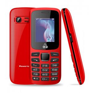 POWERTECH Κινητό Τηλέφωνο PTM-06, Dual Sim, Multimedia, με φακό, κόκκινο PTM-06