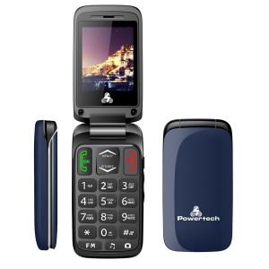 POWERTECH Κινητό Τηλέφωνο Sentry, SOS Call, Dual Sim, με φακό, Blue PTM-1