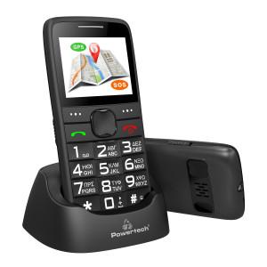 POWERTECH Κινητό Τηλέφωνο Sentry GPS, SOS Call, Dual Sim, με φακό, μαύρο PTM-12