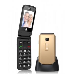 POWERTECH Κινητο Τηλεφωνο Sentry II, SOS Call, Dual Sim, με φακο, Gold PTM-3