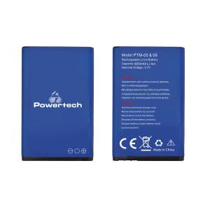 POWERTECH Μπαταρία αντικατάστασης για τα κινητά PTM-05 & 06, 800mAh PTM5-BAT