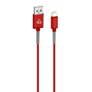 POWERTECH Καλώδιο USB σε Lightning PTR-0021 flex alu copper, 1m, κόκκινο PTR-0021