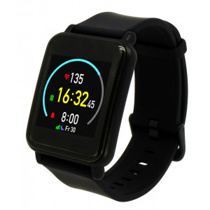 MOBILE ACTION Smartwatch Q-82, έγχρωμη οθόνη, ειδοποιήσεις, steps, μαύρο Q-82