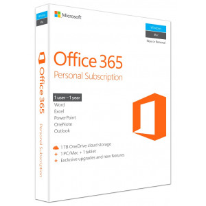 MICROSOFT Office 365 Personal, English, 1 έτος, Eurozone Medialess P2