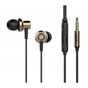 TUDDROM Earphones R3 με μικρόφωνο, 10mm, 1.2m, χρυσά R3-GD
