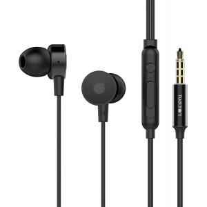 TUDDROM Earphones R4 με μικρόφωνο, 10mm, 1.2m, μαύρα R4-BK