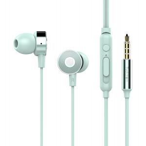 TUDDROM Earphones R4 με μικρόφωνο, 10mm, 1.2m, μπλε R4-BL
