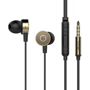 TUDDROM Earphones R4 με μικρόφωνο, 10mm, 1.2m, χρυσά R4-GD