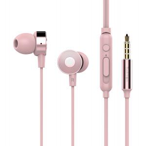 TUDDROM Earphones R4 με μικρόφωνο, 10mm, 1.2m, ροζ R4-PK