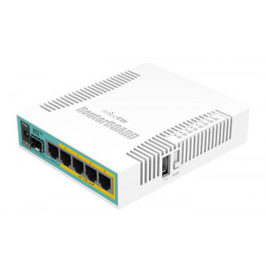 MIKROTIK Ethernet Router RB960PGS hEX PoE, 800MHz, 128MB RAM, 5xGbit LAN RB960PGS